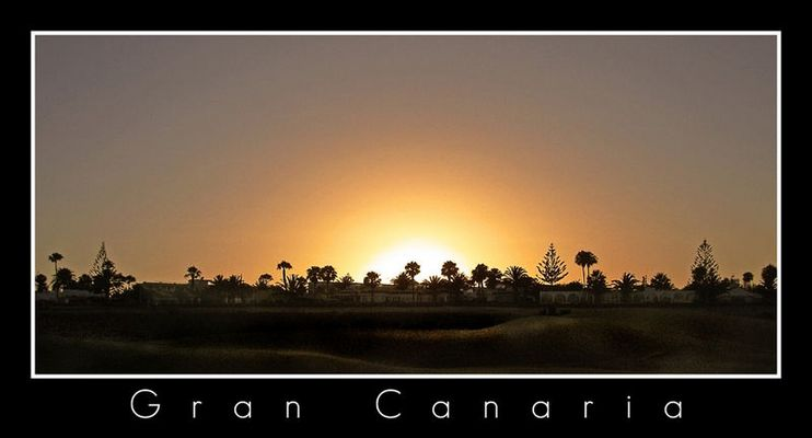 Sunset Over Gran Canaria