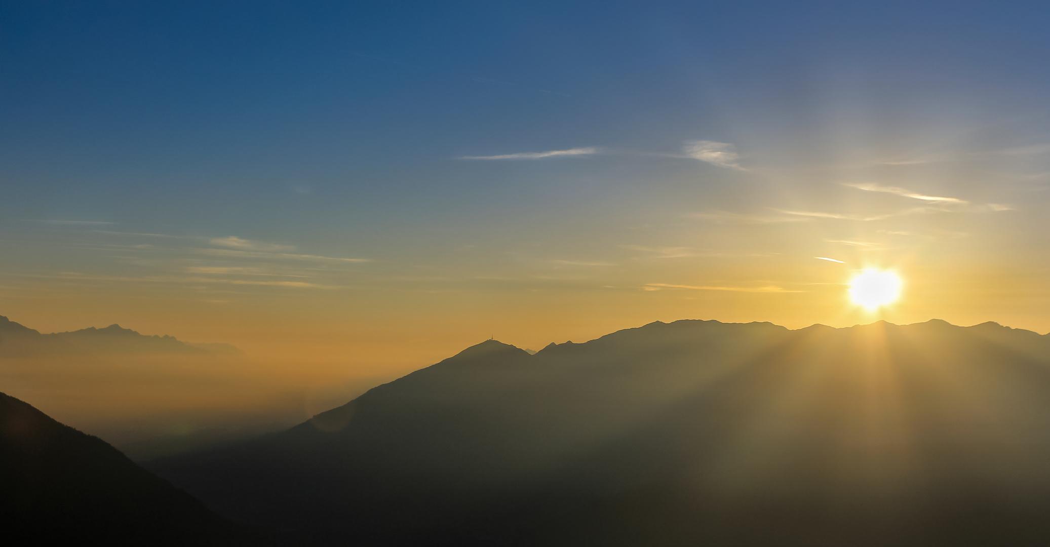 Sunset over Innsbruck