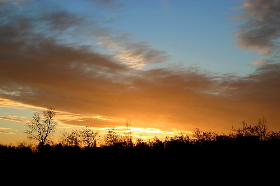 Sunset over Niederursel