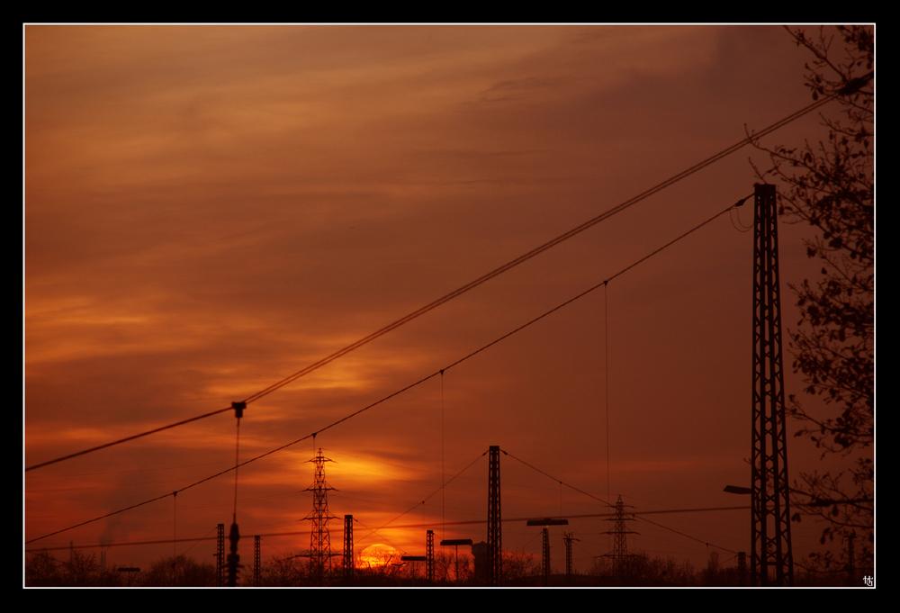 Sunset over Oberhausen Herbst 2007