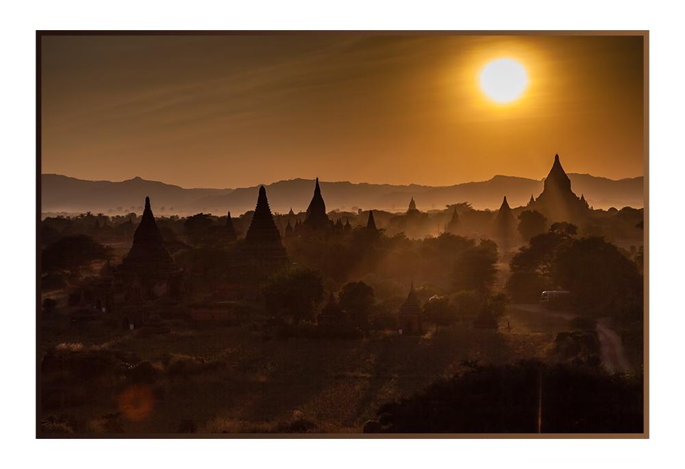 Sunset over Pagodas