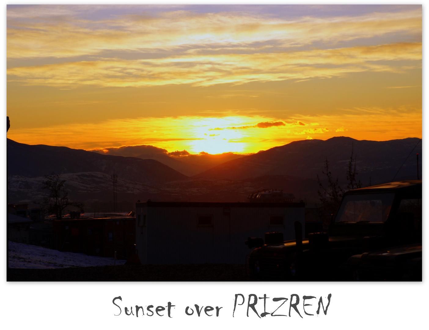 Sunset over Prizren