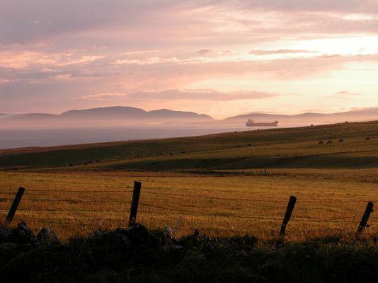 Sunset over Skapa Flow