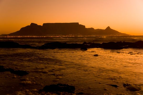 Sunset over Table Mountain
