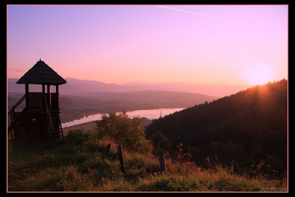 Sunset over the North Slovakia
