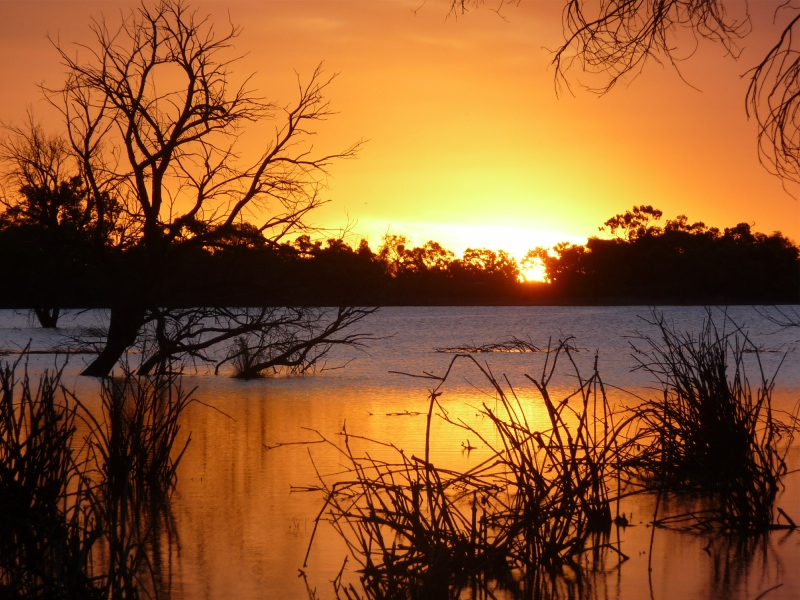 Sunset over the Warrego River