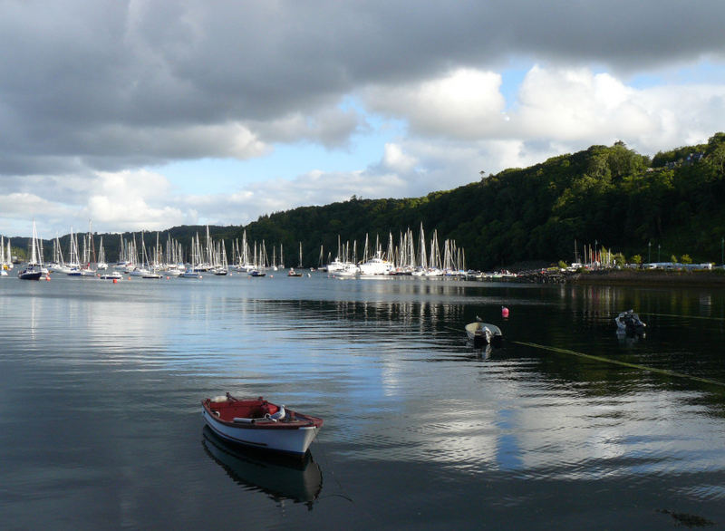 Sunset over Tobermory Harbour 2