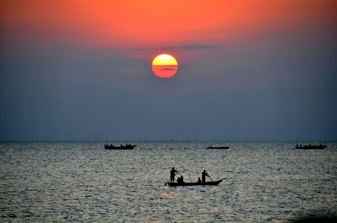 Sunset over Zanzibar!