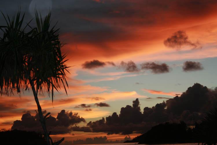 Sunset Port Glaude Mahe