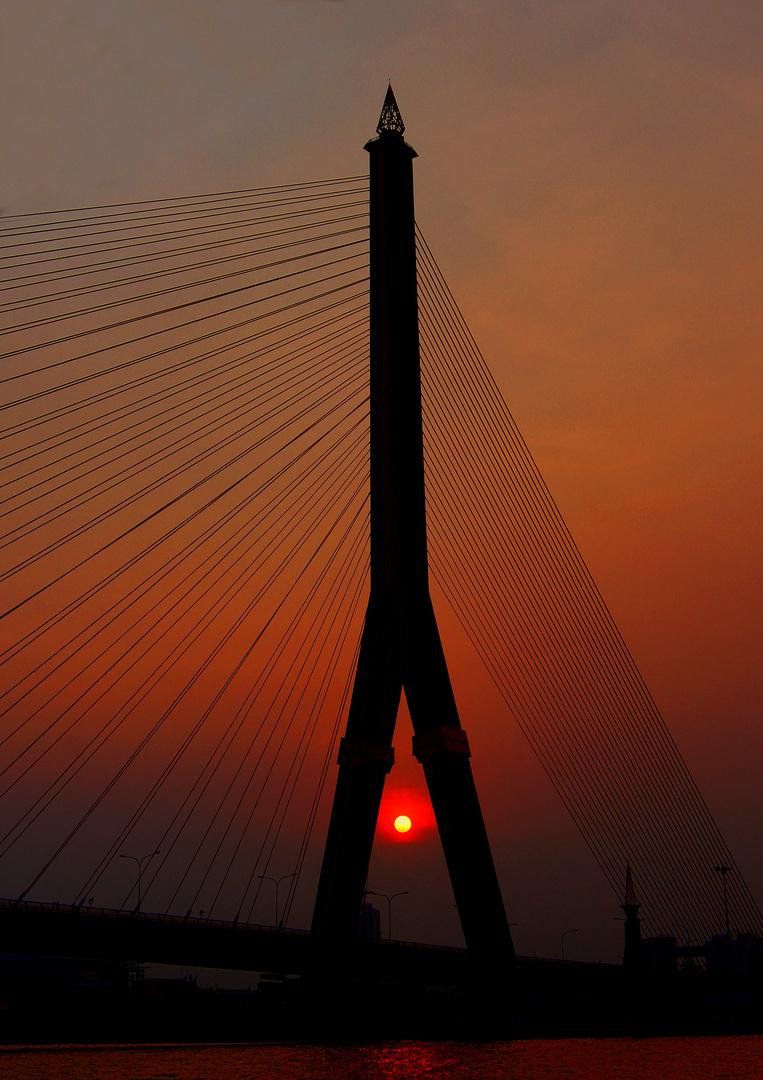 Sunset Rama IIX Bridge, Bangkok