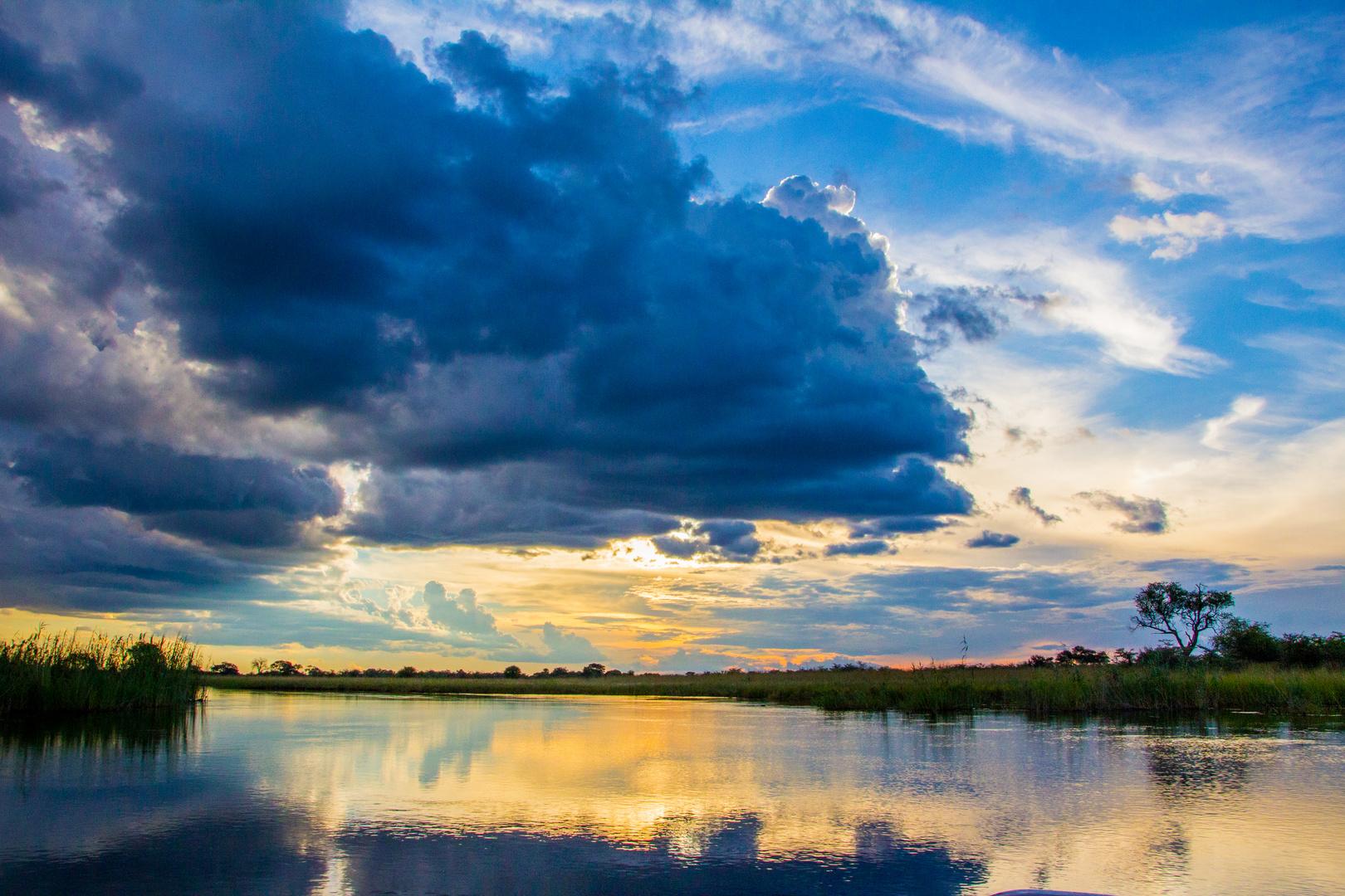 Sunset River Cruise, Kwando, Nambia