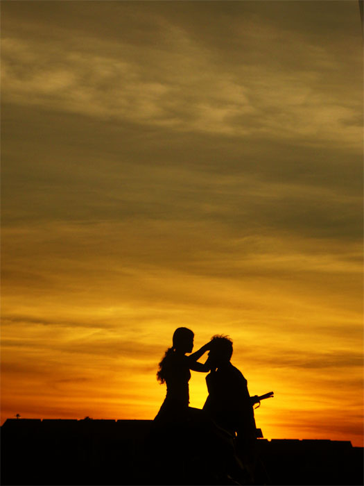 sunset romancing