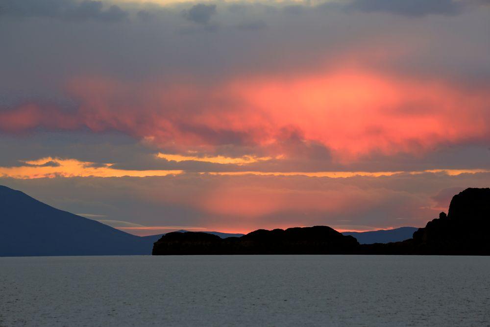 Sunset Salar de Uyuni Bolivia