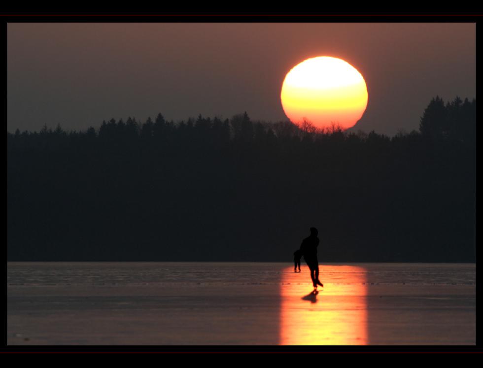 Sunset Schlittschuhläufer...