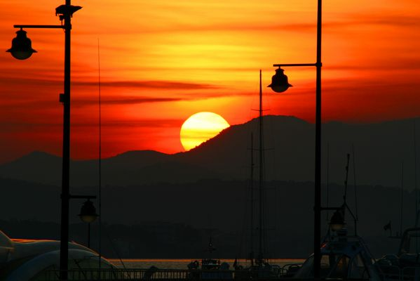 Sunset St Tropez.