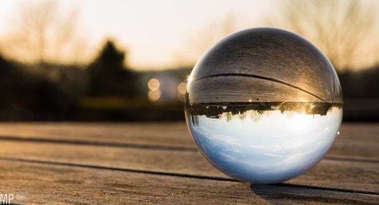 sunset through my crystal ball