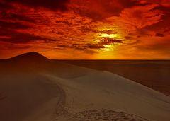 Sunset  to Gadames