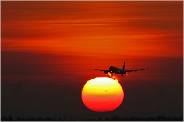 Sunset touchdown