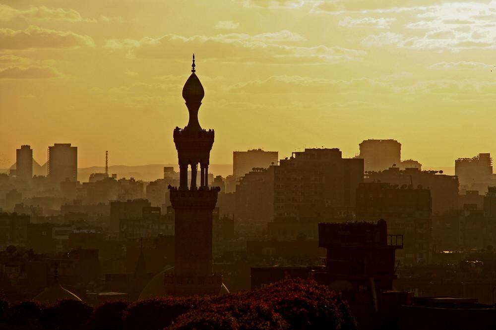 Sunset über Alt-Kairo