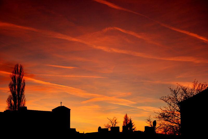 Sunset über Berlin