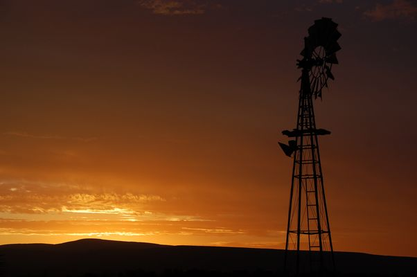 Sunset über Oudtshoorn