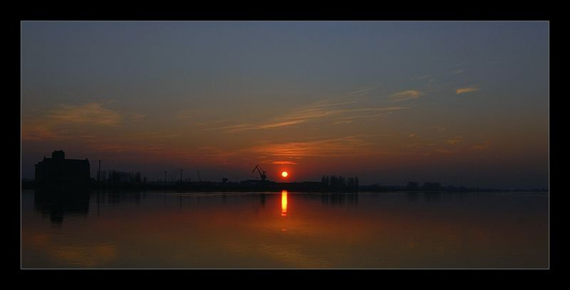 sunset / Vistula river in Plock / POLAND