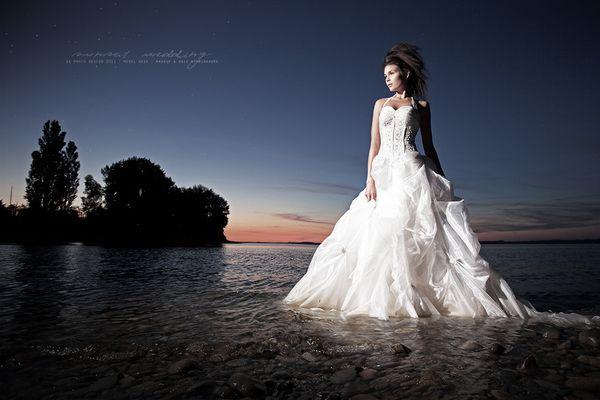 ... sunset wedding ...