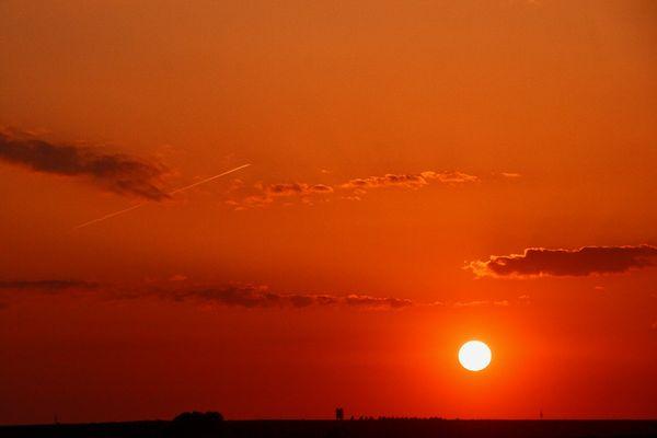 Sunsetblick über Thüringen