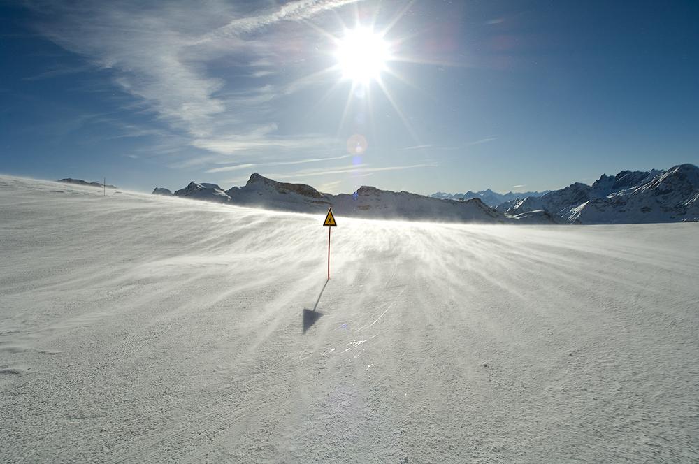 sun,snow and wind