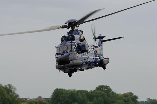 Super Puma der Bundespolizei bei der Luftrettungsübung 2012 Winsen