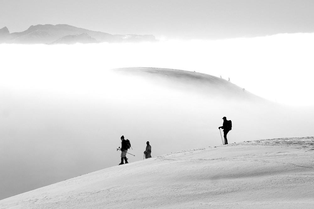 Sur la brume