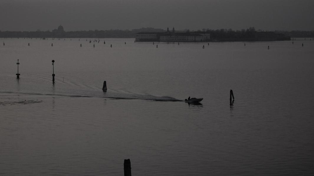 Sur la lagune de Venise au petit matin...