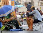 Sur la Piazza Navona ( Rome - Italie)