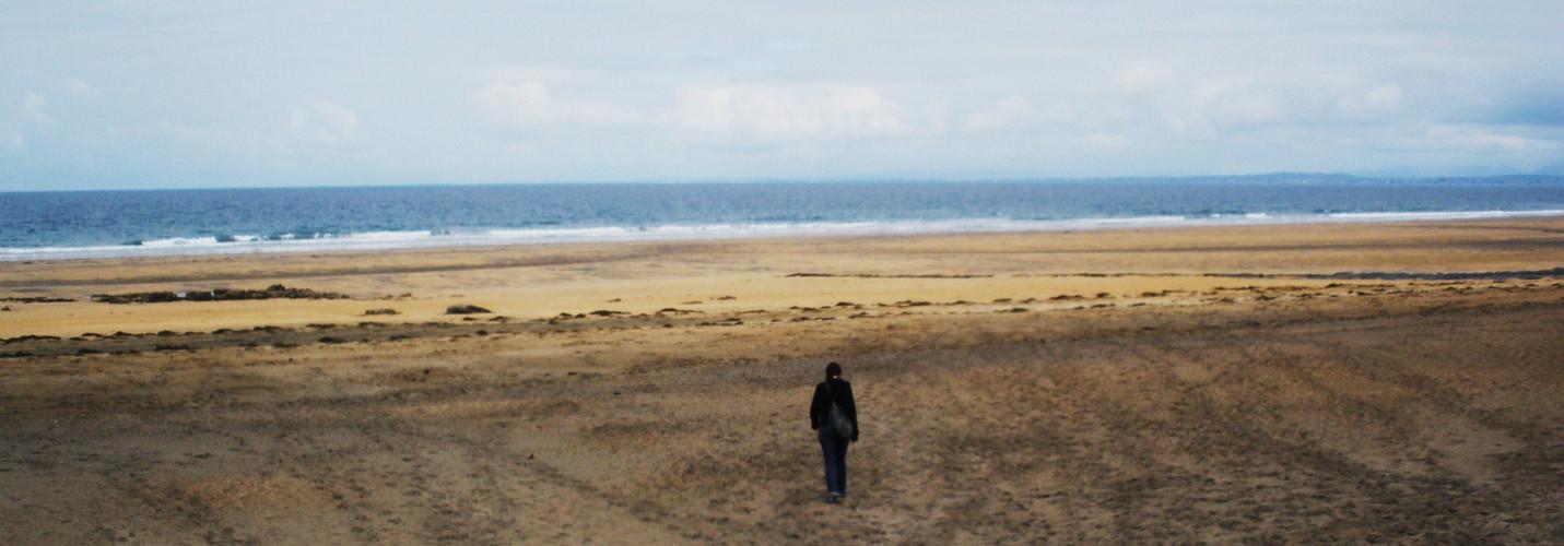 Sur la plage abondonnée ...