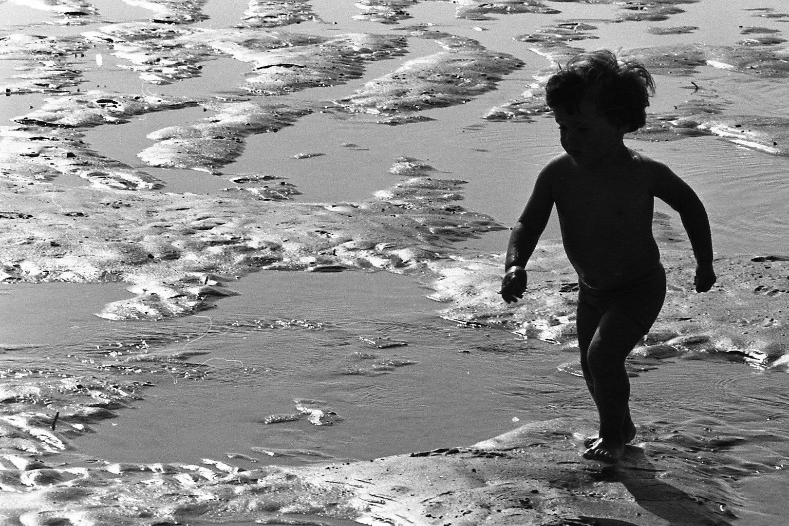 sur la plage de La Panne