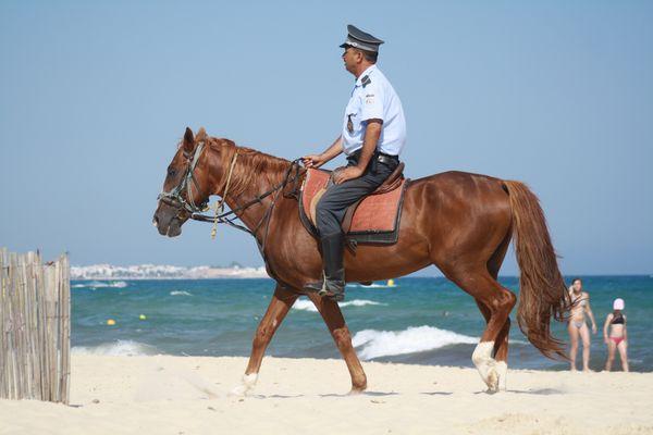sur la plage d'Hammamet !!