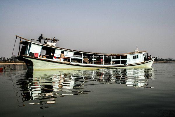 sur le fleuve Irradawaddy