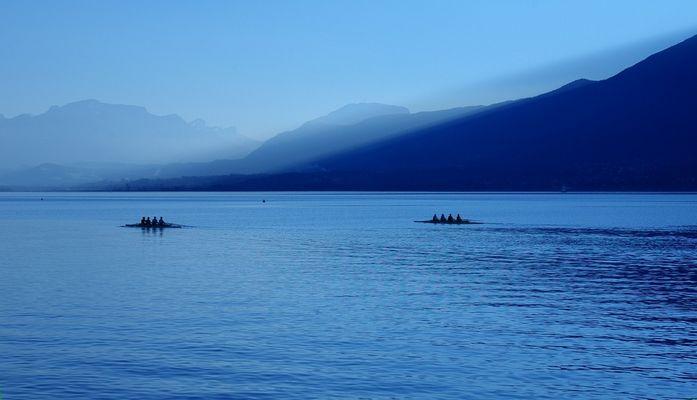 Sur le lac ...