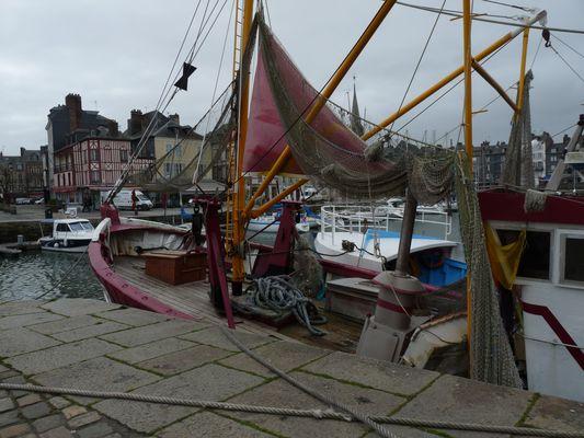 Sur le port de Honfleur
