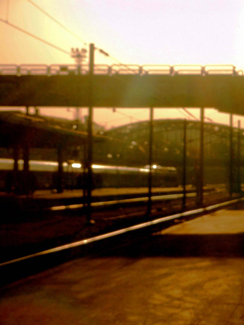 """""""Sur le quai d'une gare, j'ai délaissé ma vie;Maintenant il est tard, mais moi je vis la nuit [...]"""""""