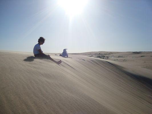 Sur le sable j'm'suis posé...