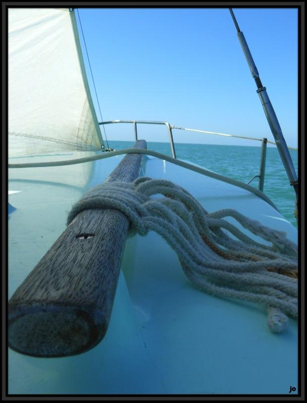 Sur le voilier.