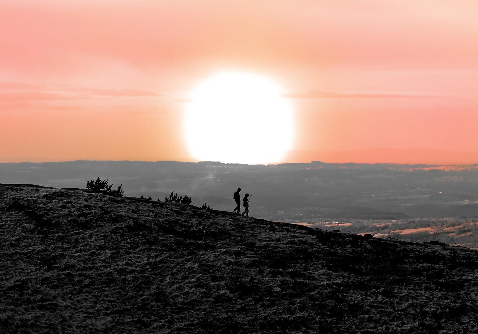 Sur les flancs du volcan