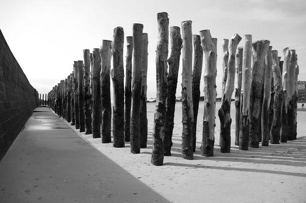 sur les plages de saint malo