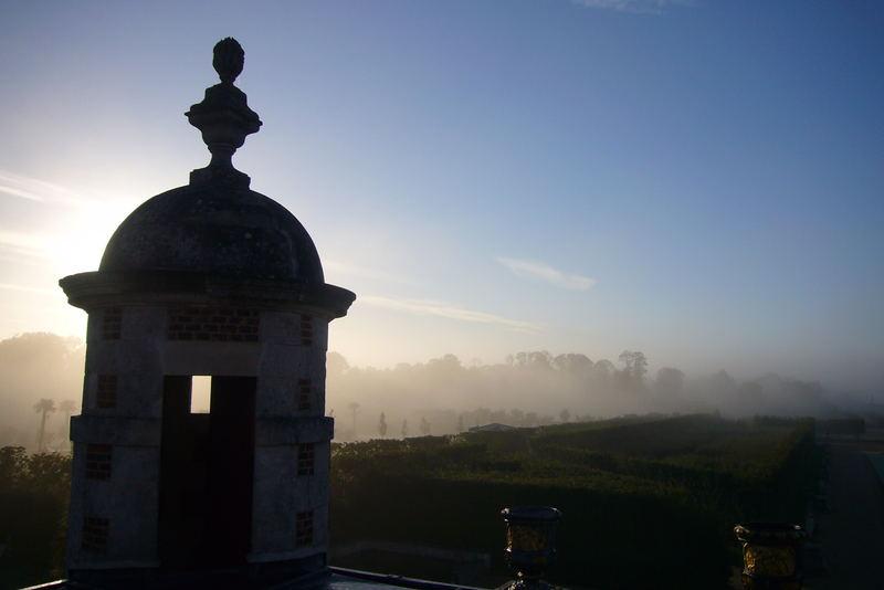 sur les toits du chateau...