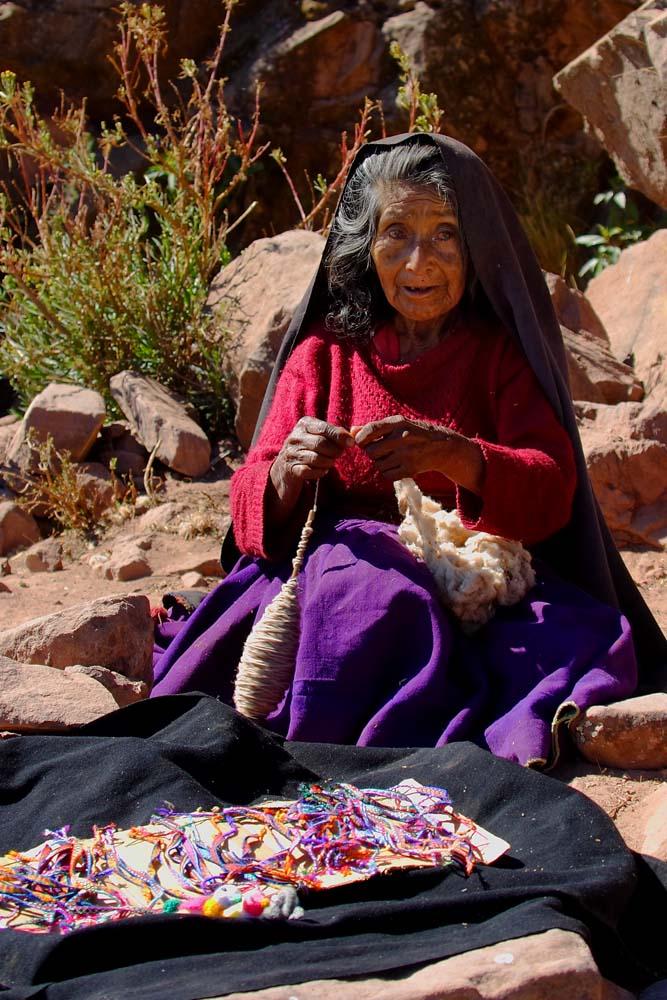 Sur l'ile de Taquile, lac Titicaca, Pérou