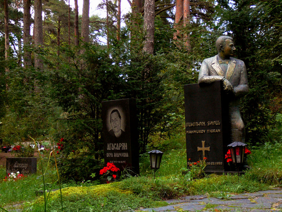 Sur mon chemin au cimetière de Tallinn ESTONIE