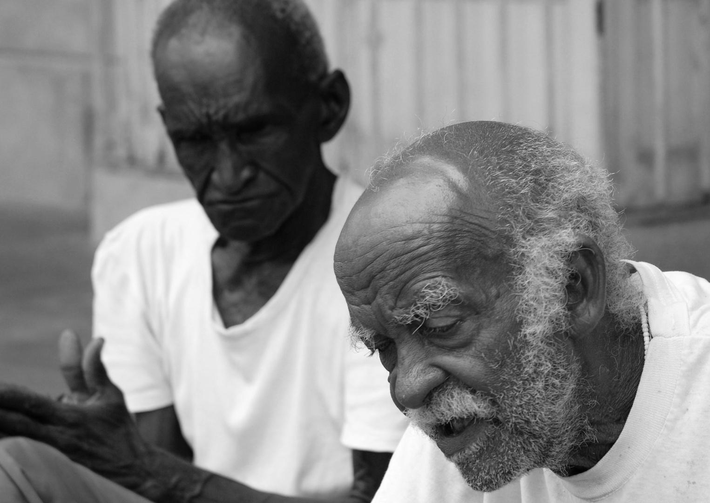 Sur un trottoir de Trinidad