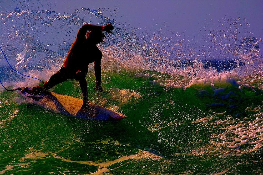 SURF à contre jour par patrice dupin