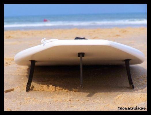 Surf board, Lacanau beach.